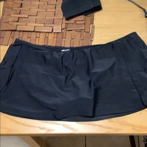 Black Swim Skirt
